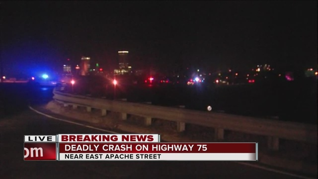 Deadly crash closes part of Highway 75