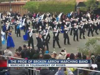 Pride of BA Band marches in Tournament of Roses