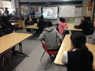 TPS students watch presidential inauguration