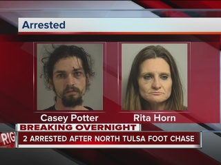 TPD: Two arrested after 'lengthy foot chase'