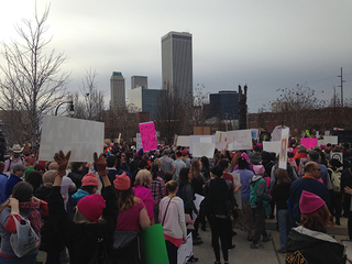 Hundreds turn out for Women's March in Tulsa