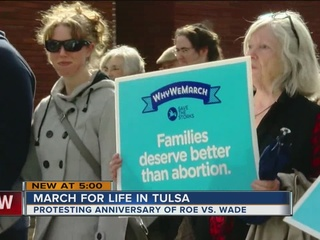 Hundreds turn out for Tulsa March for Life