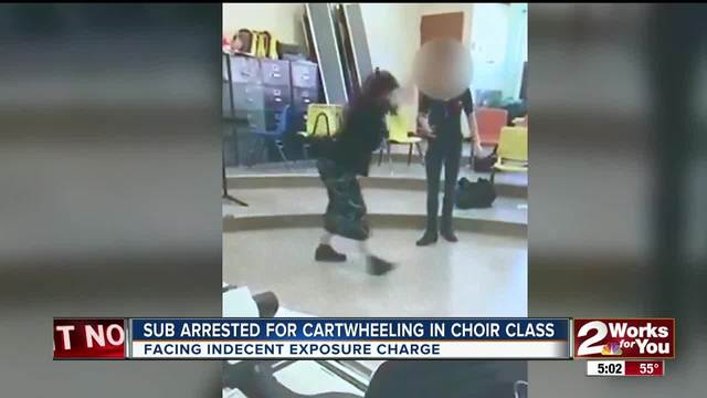 Cartwheeling choir teacher arrested for indecent exposure