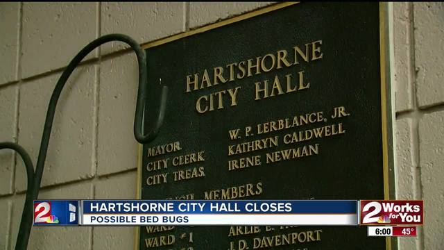 Hartshorne City Hall Closes for the day after bed bug threat