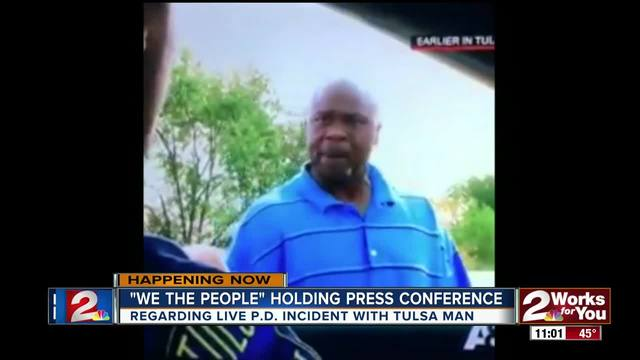 We The People holds press conference due to Live P-D- incident with Tulsa man