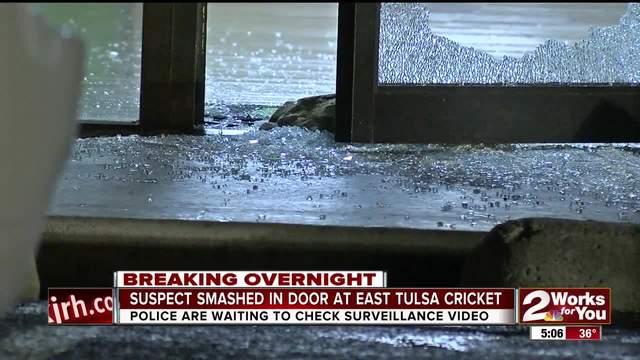 Suspect smashes East Tulsa Cricket store window overnight