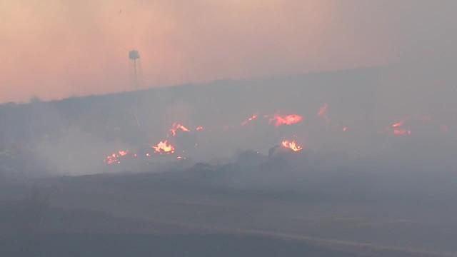 Large Grassfire Sweeps Through Talala