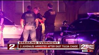 Juveniles arrested after high-speed chase