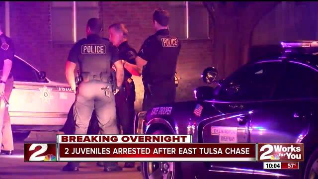 Juveniles arrested after high-speed chase overnight
