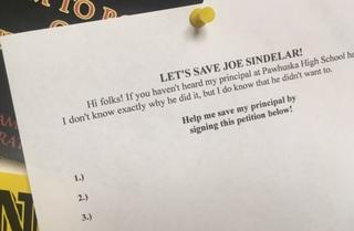 Students rally to save Pawhuska principal's job