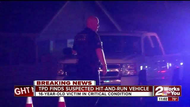 Tulsa Police find the vehicle involved with the hit-and-run incident
