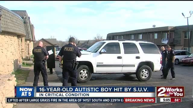 16-year-old austic boy hit by s-u-v-