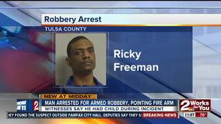 Man arrested after alleged armed robbery