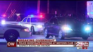 1 shot overnight near midtown Tulsa restaurant