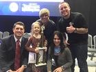Edith Fuller earns her Spelling Bee number