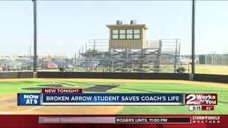 BA students, training staff save coach's life