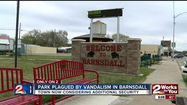 Extra security needed after Barnsdall vandalism