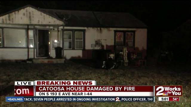 Catoosa home heavily damaged by morning fire