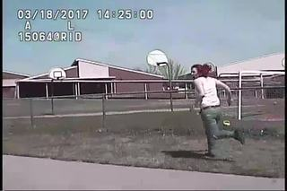 TPD releases video of suspect being run over