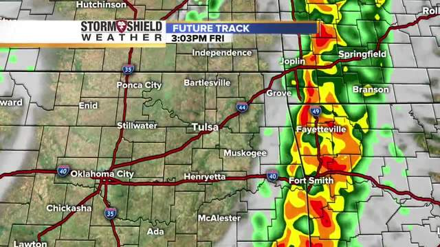 Chance for severe storms in Green Country Friday