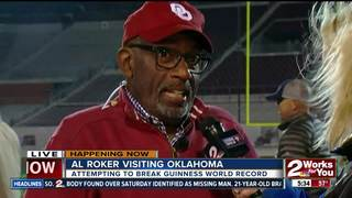 OU sets Guinness World Record with Al Roker
