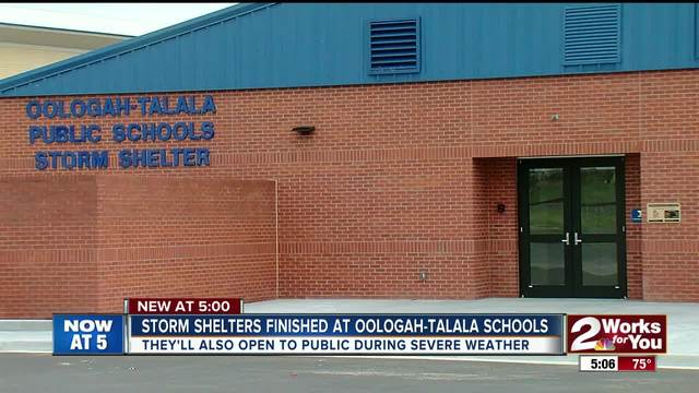 Storm shelters finished at Oologah-Talala schools