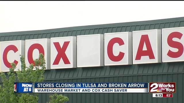 Warehouse Market and Cox Cash Saver closing in Tulsa