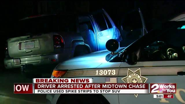 Driver arrested after chase through midtown