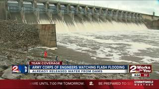 Corps monitoring levels,releasing floodwaters