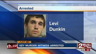 Witness in murder case arrested