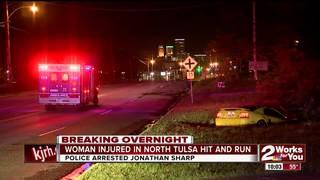 Woman seriously hurt in north Tulsa crash