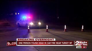 Person found dead in burned car