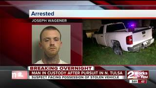 Stolen vehicle recovered in N. Tulsa pursuit