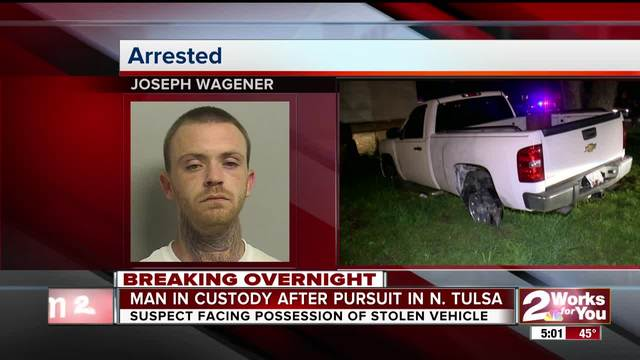 TPD arrest suspect after overnight chase in north Tulsa