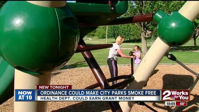 Ordinance could make city parks smoke free