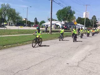 TPS Students Hold Bike Club Rally