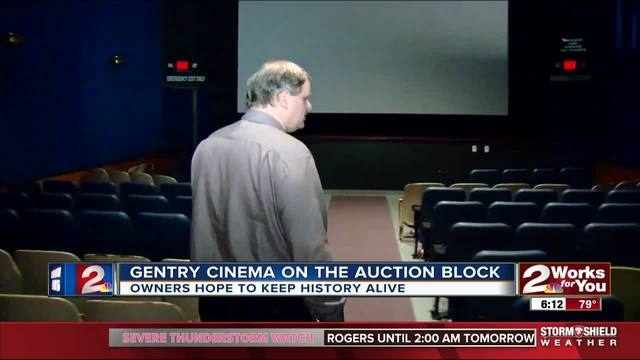 Historic Gentry Cinema on the auction block