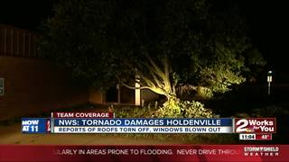 NWS: Tornado causes damage in Holdenville