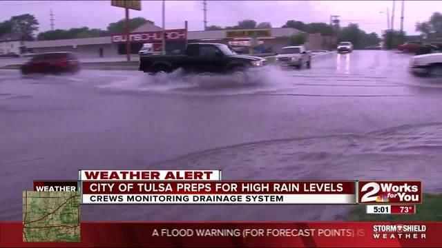 City of Tulsa preps for high rain levels