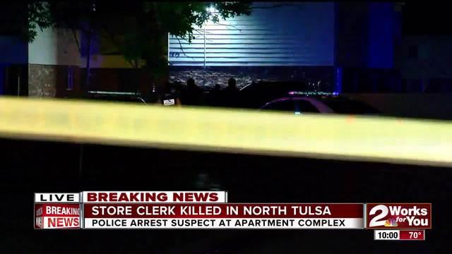 Store clerk killed in North Tulsa