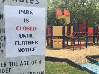 Park closed because of nearby sewer line leak