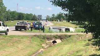 Muskogee PD: Shoplifter rolls her car; arrested
