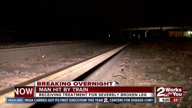 Man recovering in hospital after getting hit by train