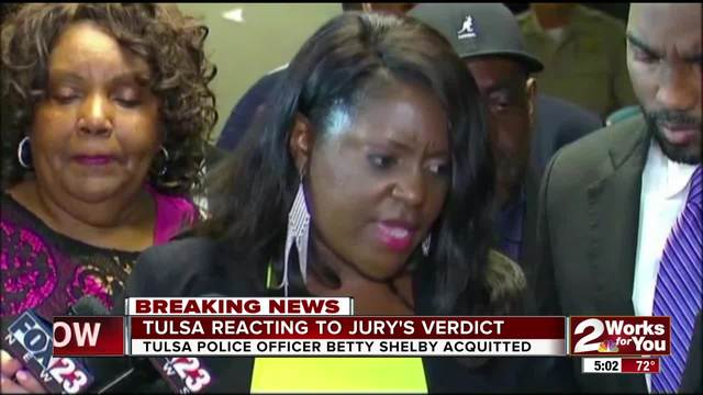 Tulsa reacts to last night-s jury verdict from Officer Betty Shelby-s…
