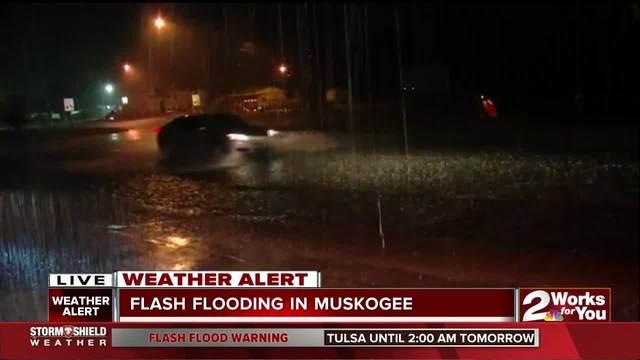 Flash flooding in Muskogee