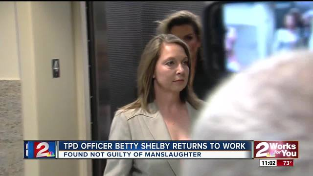 TPD Officer Betty Shelby returns to work