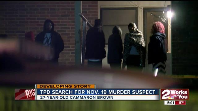 Tulsa Police search for murder suspect from November