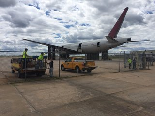 Crews fix airport gates and fences after pursuit