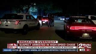 High-speed motorcycle chase ends in arrest