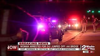 OHP arrest woman for DUI, she jumps off bridge